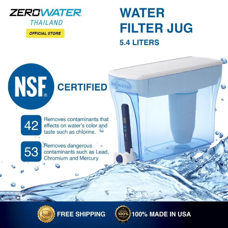 Zerowater Water Filter Jug 5.4 Liters