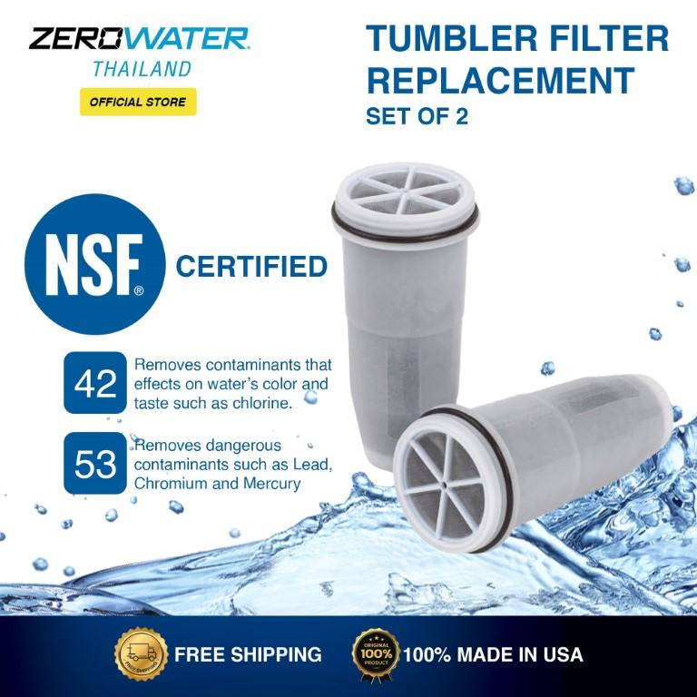 Zerowater Tumbler Filter Replacement Set of 2