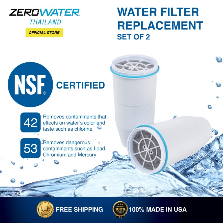 Zerowater Water Filter Replacement Set of 2